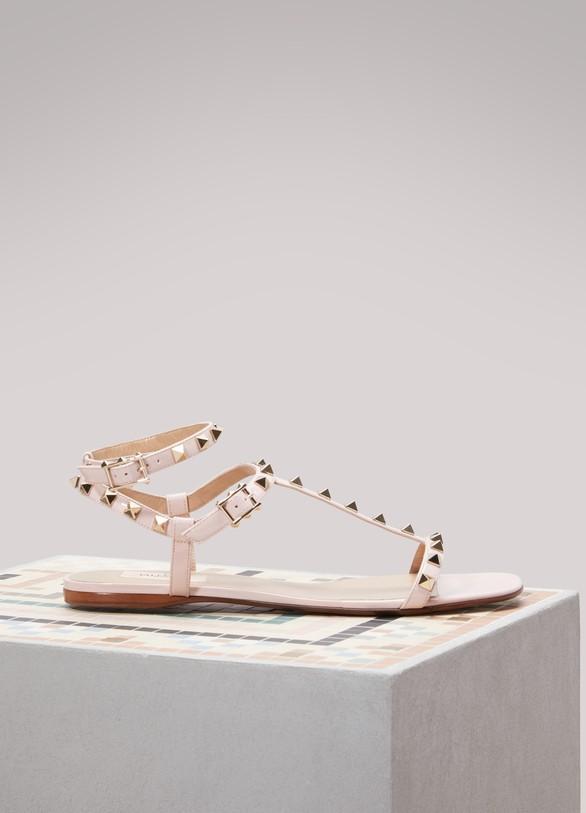 ValentinoRockstud Flat Sandals