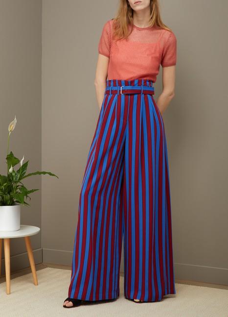 Maison MargielaStriped wide leg pants
