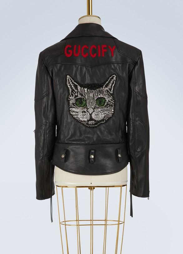 GucciVeste en cuir Guccify