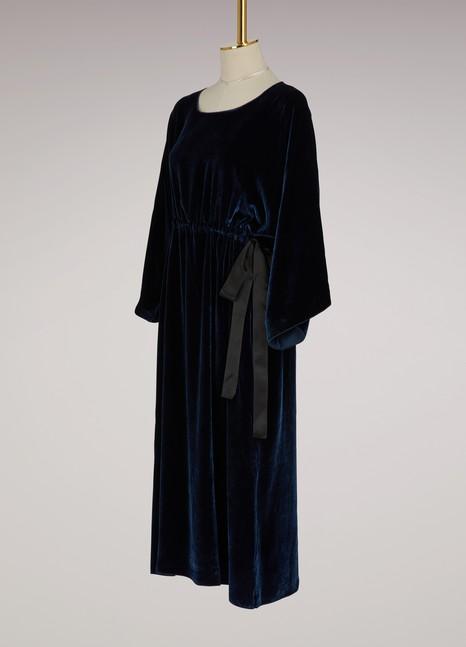 Sofie d'HooreRobe en velours et soie avec ficelle