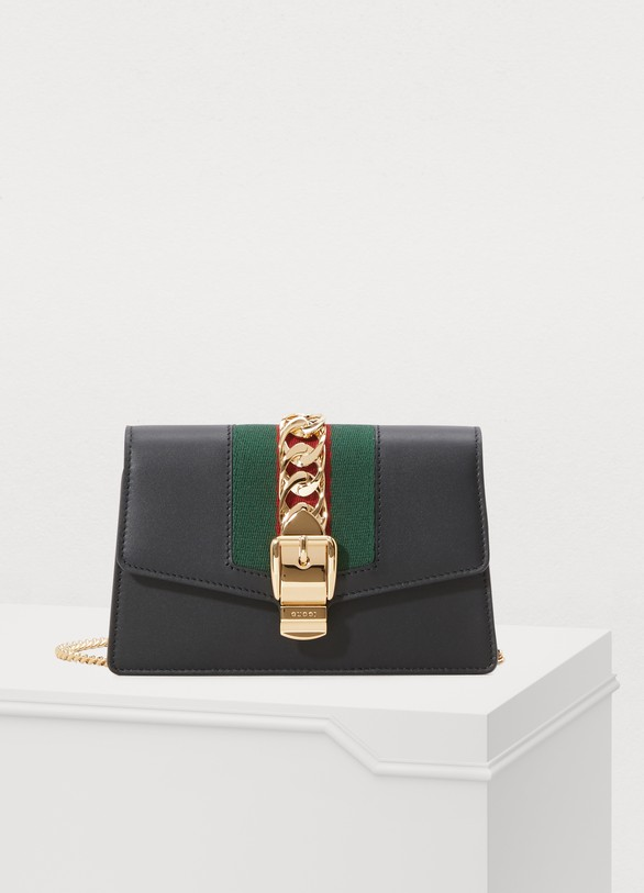 ab2fbdc38454 Women's Sylvie leather mini chain bag | Gucci | 24S | 24S