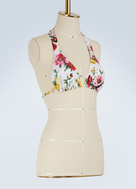 Dolce & GabbanaFlowers bikini top