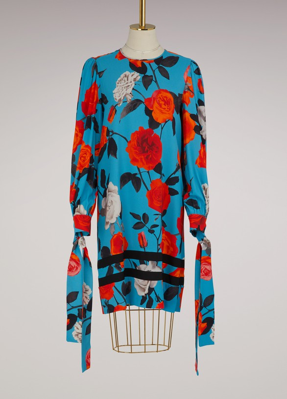 MSGM Flowers printed dress