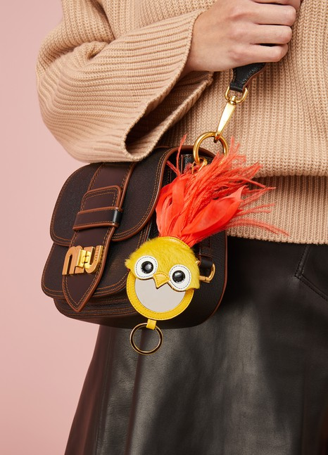 Miu Miu Bird Key Ring with Mirror