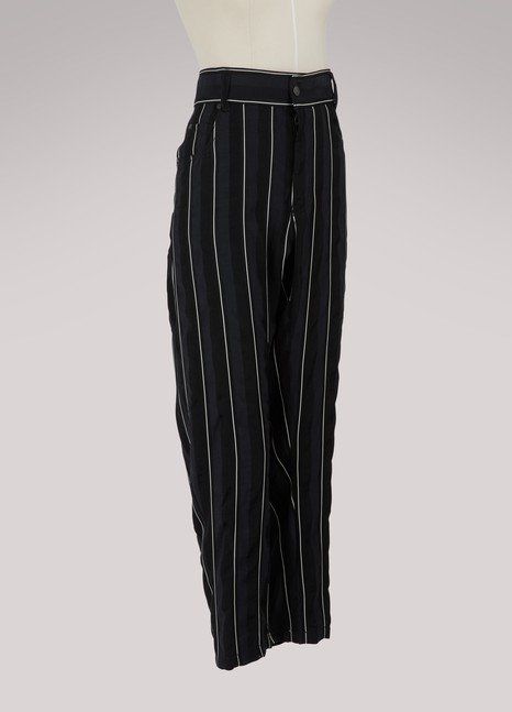 Haider Ackermann Baggy striped trousers