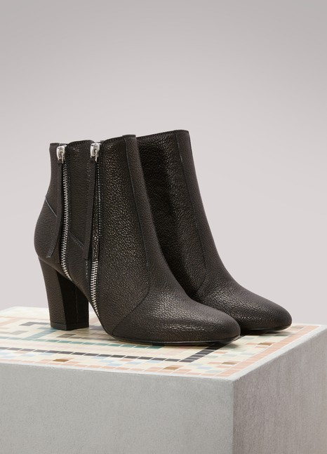 Michel Vivien Citrine Leather Ankle Boots