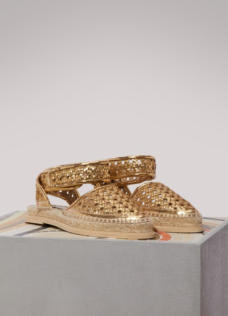 Stella McCartneyMetallic flat sandals