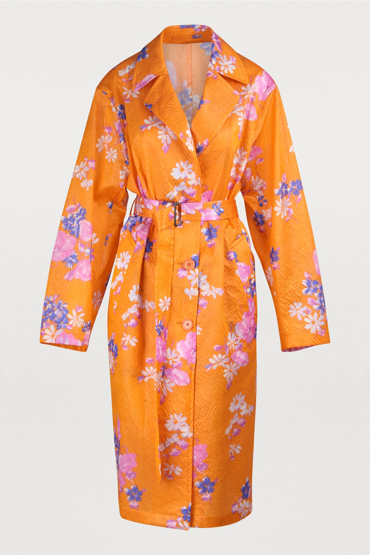 DRIES VAN NOTEN | Silk Blend Coat | Goxip