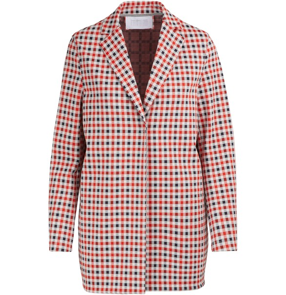 HARRIS WHARF Wide plaid jacket