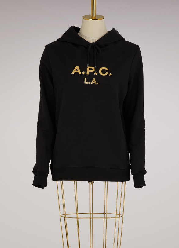 A.P.C.Sweat à capuche A.P.C. L.A en coton
