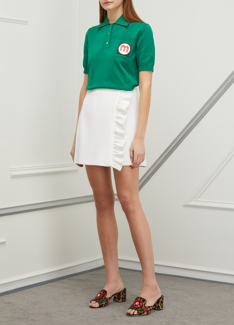 Miu Miu Patch polo shirt