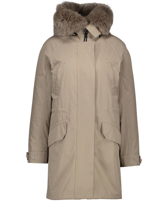 ARMY BY YVES SALOMON Parka lined with rabbit fur