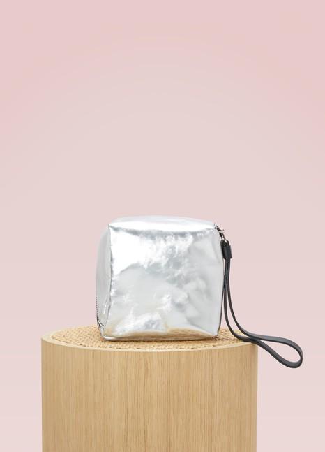 Sac mini cube zippé métallisé uZu88D