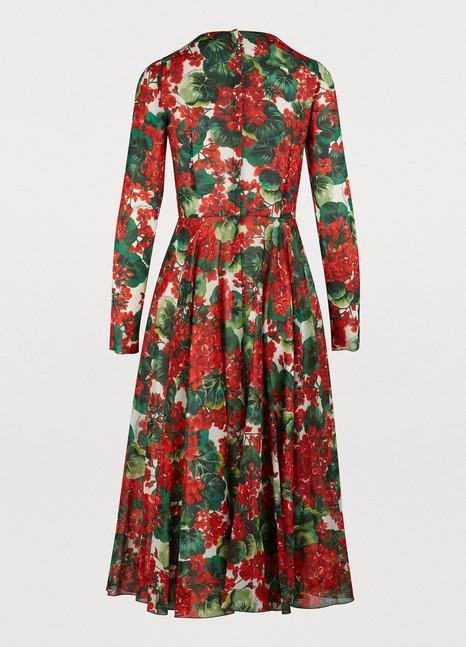 DOLCE & GABBANASilk midi-dress