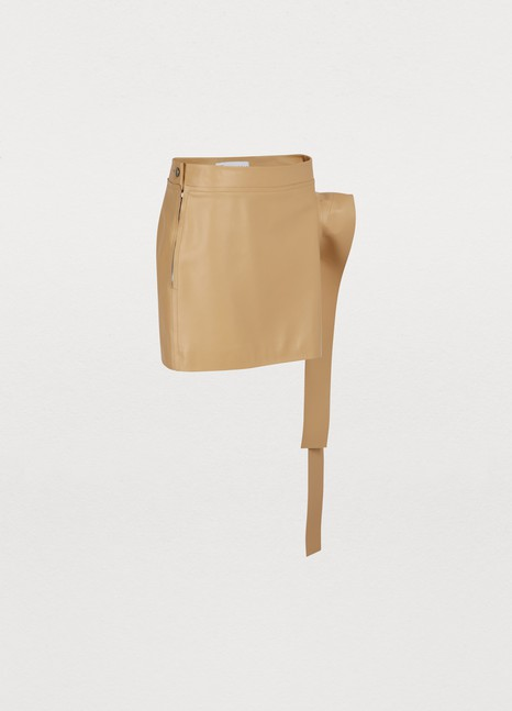 J W ANDERSONLeather mini skirt