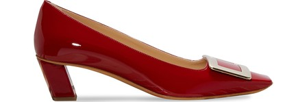Roger Vivier Belle Vivier Trompette Pumps In Patent Leather In Red