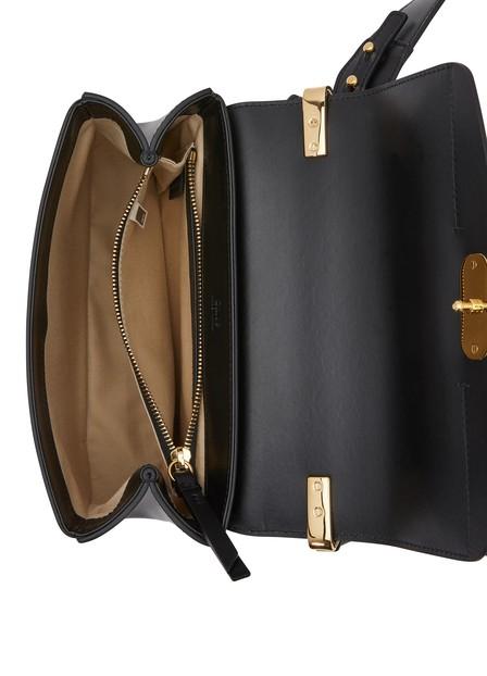 18dec4ed C Small Shiny Calf Leather Shoulder Bag in Black