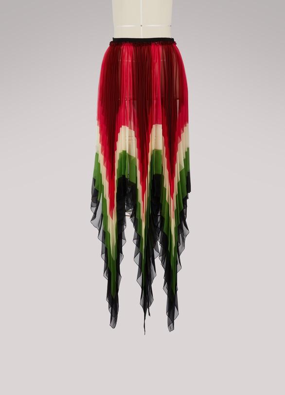 GucciSilk scarf skirt