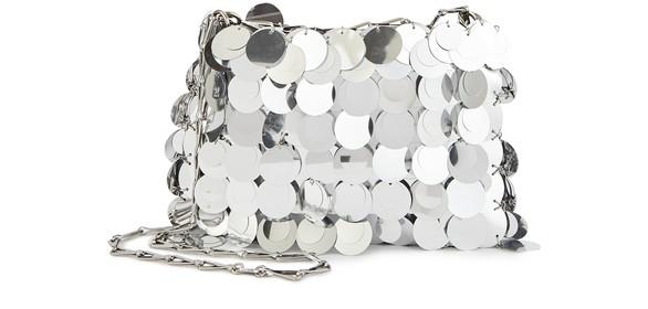 PACO RABANNEIconic Sparkle 1969 mini crossbody bag