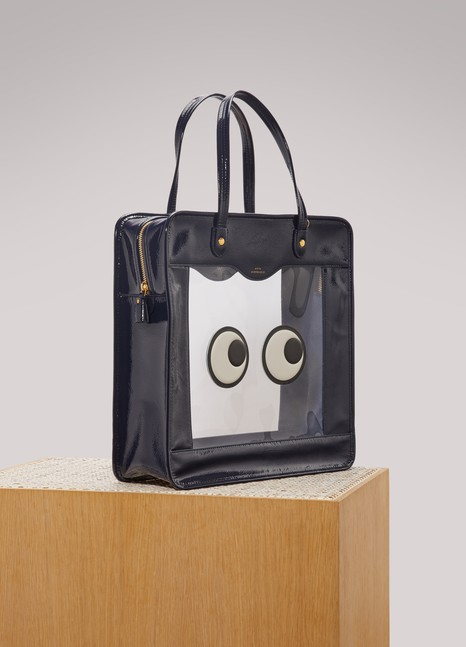 Anya Hindmarch Eyes leather rainy day tote bag