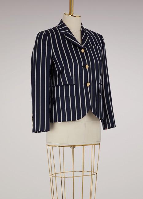 Thom BrowneStriped wool blazer