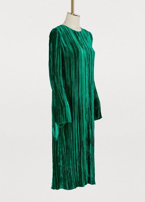 Forte_FortePleated velvet dress
