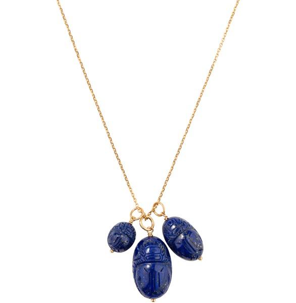 AURELIE BIDERMANNScarabée lapis lazuli pendant