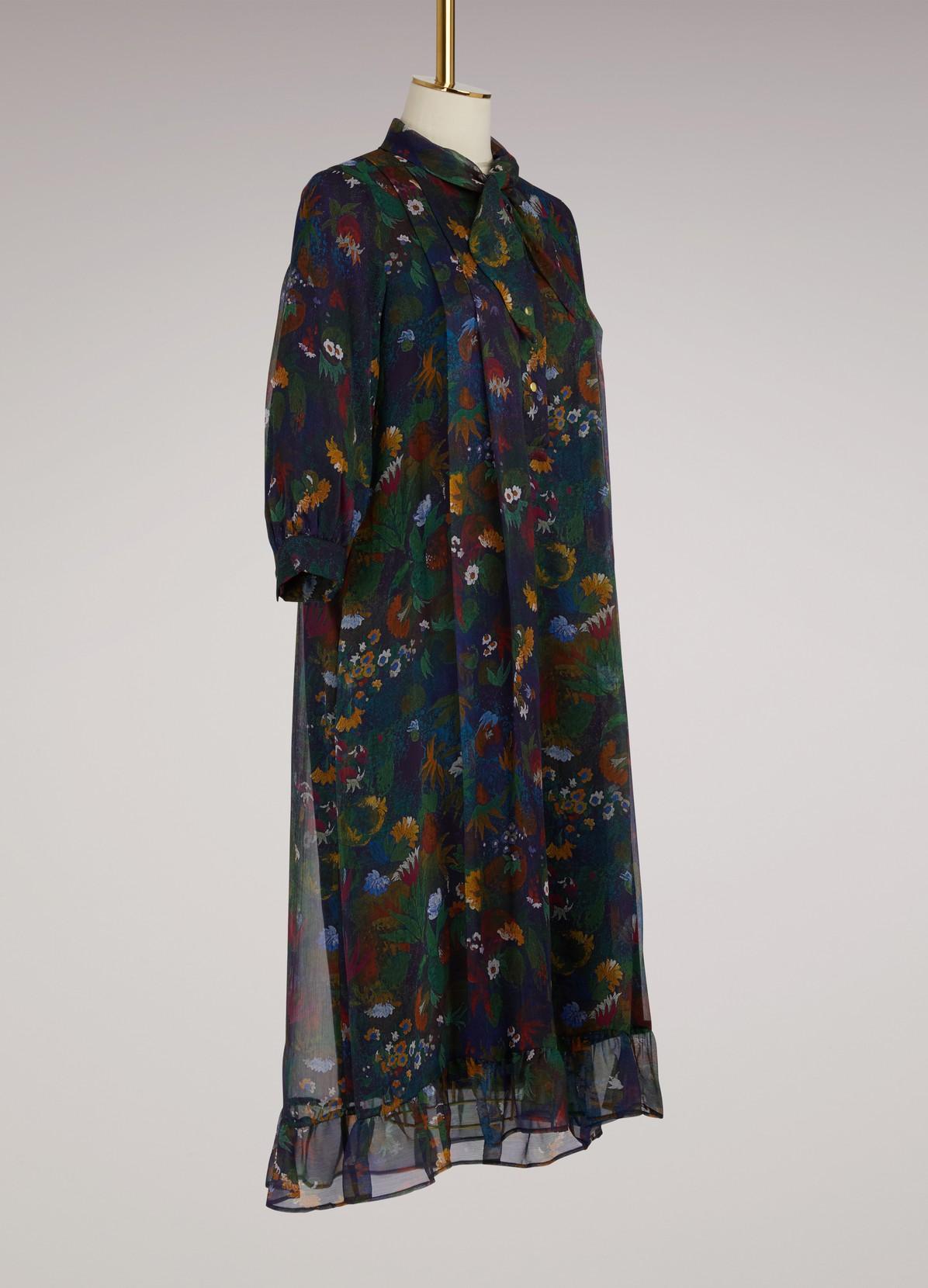robe longue franklin en cr pon de soie roseanna 24 s vres. Black Bedroom Furniture Sets. Home Design Ideas