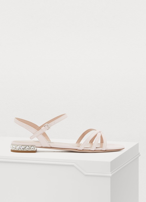 Miu Miu Jewel heel sandals
