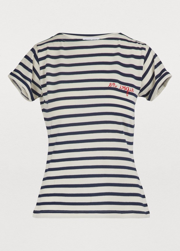 Maison LabicheT-shirt marinière Vogue en coton
