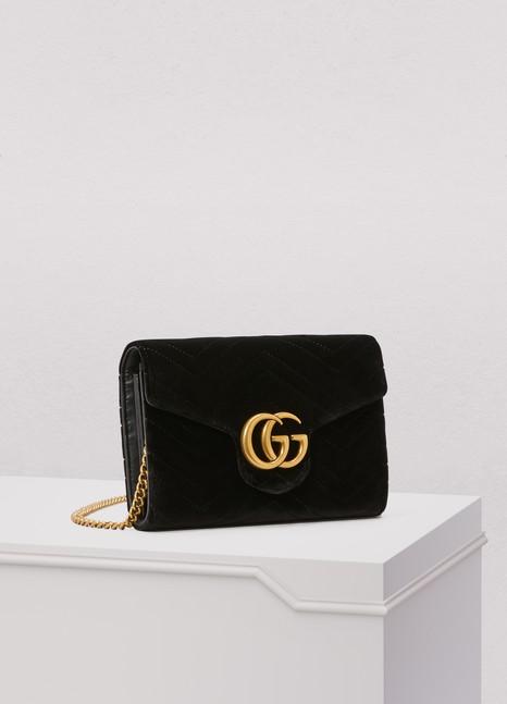 GucciGG Marmont velvet mini bag