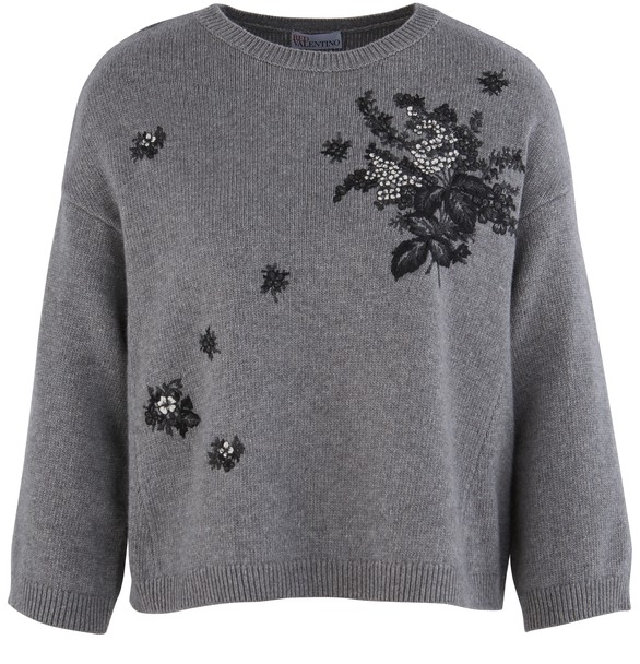 RED VALENTINO Pull-over brodé
