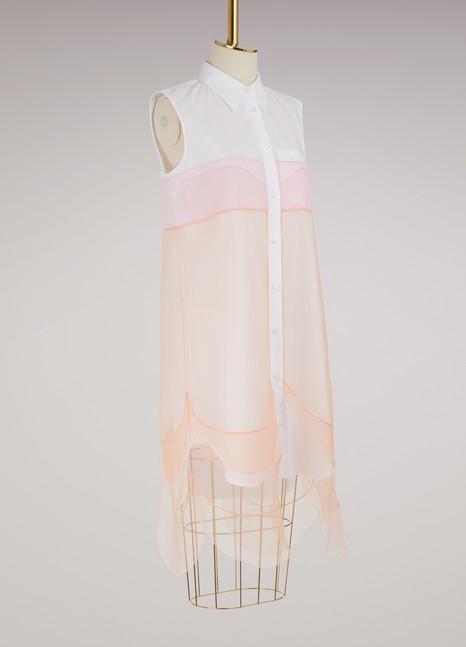 PradaRobe-chemise multi-couches