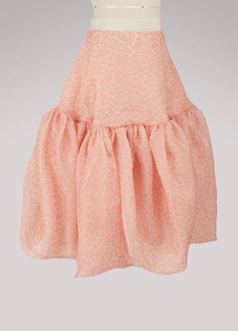 Maison Rabih KayrouzLeopard silk skirt