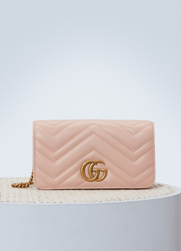 b659e376c1bfce Women's GG Marmont wallet on chain | Gucci | 24S | 24S