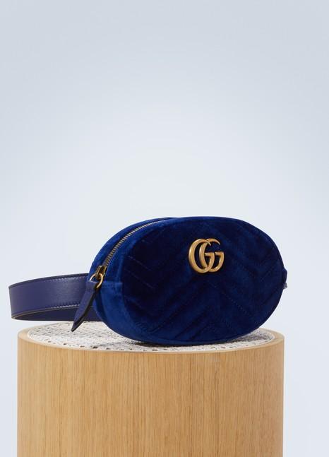 GucciGG Marmont quilted velvet belt bag