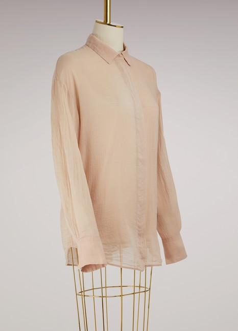 Forte_Forte Oversized silk and cotton shirt