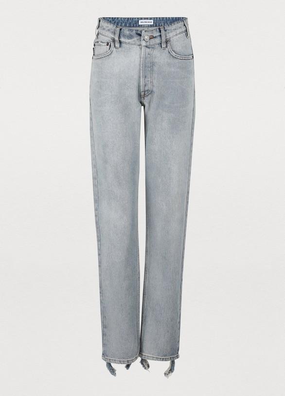 BALENCIAGAV-neck 5 pockets pants