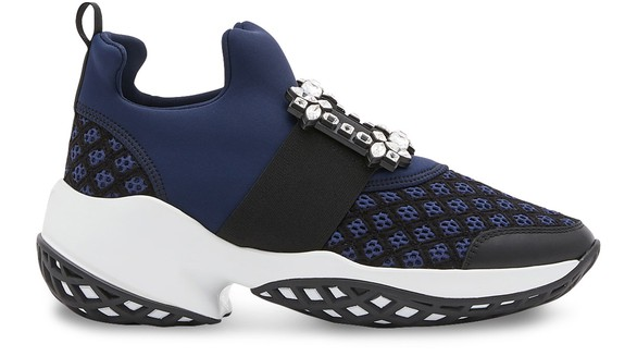 ROGER VIVIER Viv 'Run sneakers with rhinestone buckle