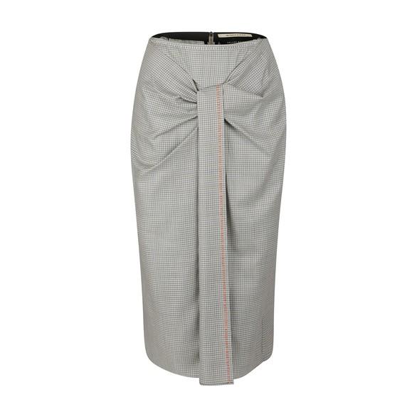 ROLAND MOURETAura woollen skirt