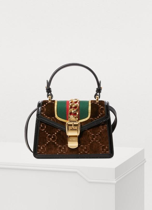 Mini sac Sylvie en velours GG femme   Gucci   24 Sèvres f730560c77f