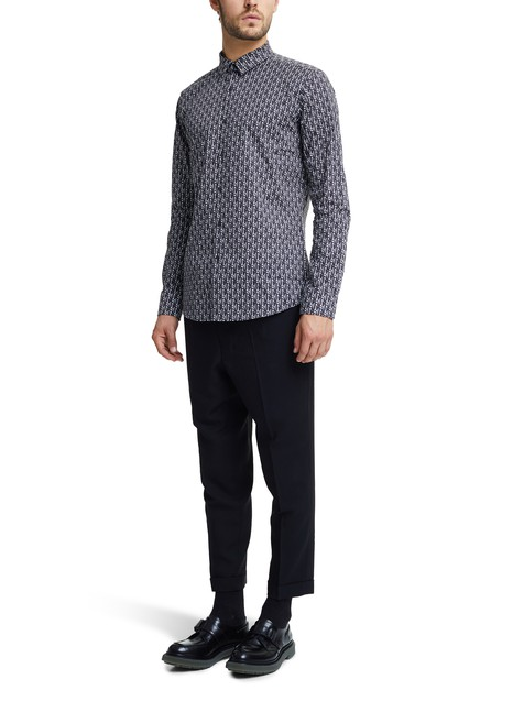 FENDIMulti-logo cotton shirt