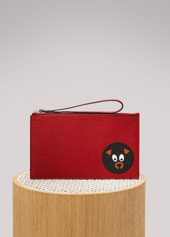 Moynat Mosaïque animal clutch