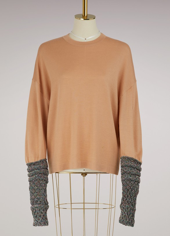 Esteban CortazarWool and silk sweater