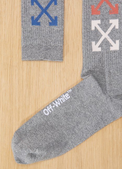 Off White Chaussettes logo multicolores