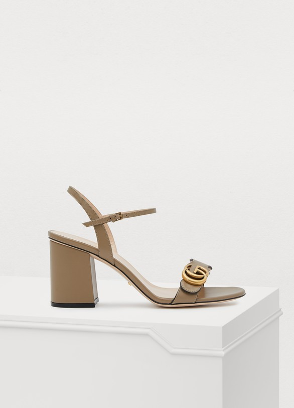 GucciGG leather sandals