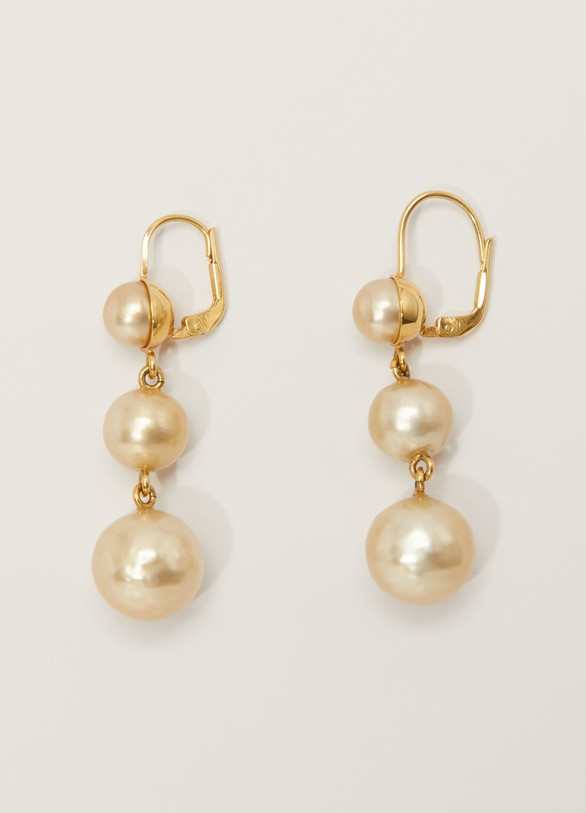 Céline Dot earrings made of glass beads and brass