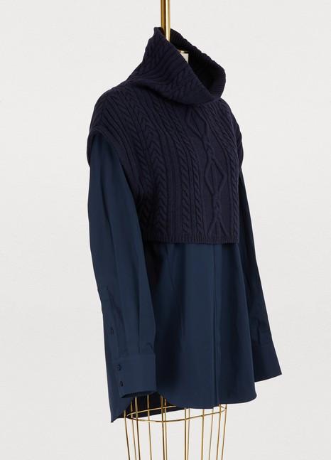 KENZOShirt with mixed knit