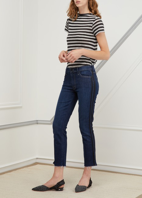 MotherThe Rascal high-waisted slim-fit jeans