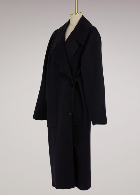 Maison MargielaDouble-Breasted Cashmere Coat